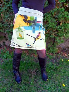 Vogel+Bird+Vogelkäfig+Rock++Hüftrock++Dehnbund++von+Zellmann+Fashion+auf+DaWanda.com