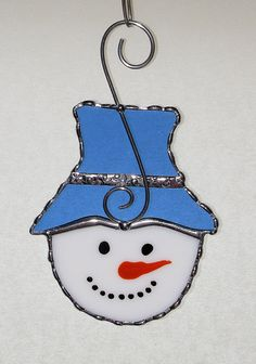 Christmas+Holiday+Stained+Glass+Suncatcher++Snowman+by+GLASSbits,+$15.00