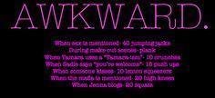 MTV's Awkward. TV show workout.