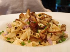 Duck Egg Fettuccine with Oyster Mushrooms and Spring Herbs