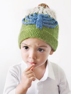 Get ready for the winter season with this cute  knit Hanukah Hat. We're happy to offer this pattern as a sample from the book, Holiday Hats for Babies.