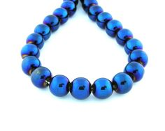 16 12mm AB Titanium Blue Plated Natural by FancyGemsandFindings, $15.00