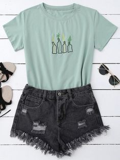 SHARE & Get it FREE | Plant Embroidered T-ShirtFor Fashion Lovers only:80,000+ Items • New Arrivals Daily • FREE SHIPPING Affordable Casual to Chic for Every Occasion Join Zaful: Get YOUR $50 NOW!