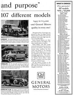 the history and operations of general motors company At the start of the 20th century, there were fewer than 8000 cars in the us, many  of them powered by steam or electricity.