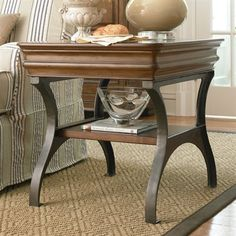 Pennsylvania House 071802 New Lou End Table, Cognac