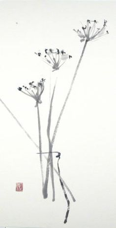 Poem in a Vase · Lilith Ohan Sumi-e Artist and Teacher Japanese Watercolor, Japanese Painting, Chinese Painting, Chinese Art, Watercolor Art, Chinese Brush, Sumi E Painting, Japanese Drawings, Tinta China