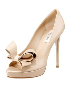 Couture-Bow Platform Pump by Valentino at Bergdorf Goodman.