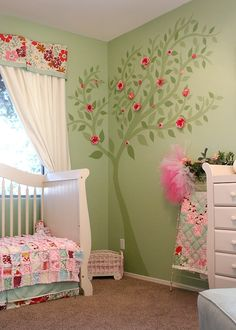 Baby Room,,,, I LOVE THIS!!!!!!!!!! Little Olivia is going to have a fairy garden room!!! *When I have a Little Olivia that is.... #babynursery