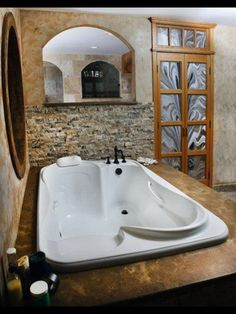 Two person tub. Love it!!