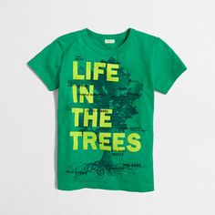 J.Crew Factory Life in the Trees tee 4-5