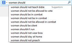 """""""Women should...not teach bible"""""""