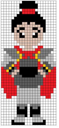 Diseny Mulan General Shang perler bead pattern