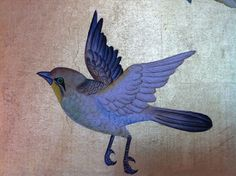 Detail from de Gournay wallpaper - artful, exquisite, worth every penny.