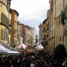 A Chocolate Festival In Perugia, Italy - Travel Belles Oh The Places You'll Go, Places Ive Been, Places To Visit, Perugia Italy, Chocolate Festival, Lake Como, Italy Travel, To Go, Street View