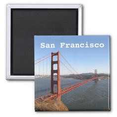 San Francisco CA Golden Gate Bridge fridge magnet - golden gifts gold unique style cyo