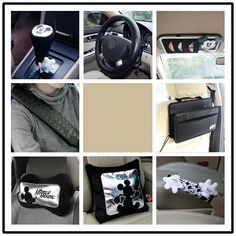 Disney-Mickey-Mouse-Car-Interior-Accessories-9pc-Set-Cover-Cushion-Headrest