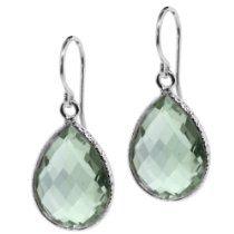 Ct Natural Green Amethyst Pear Shape 925 Silver Dangle Earrings - Jewelry For Her Women's Earrings, Silver Earrings, Silver Jewelry, Pendant Earrings, Diamond Jewelry, Fashion Jewelry, Women Jewelry, Women's Fashion, Green Fashion