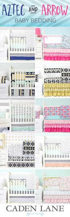 Find the perfect Aztec or Arrow look for your crib with a Caden Lane Aztec & Arrow crib bedding set. Browse the whole collection here!