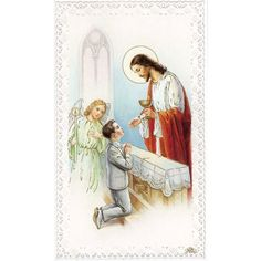 """Customer review: """"My grandson enjoyed distributing these beautiful prayer cards at the luncheon following his communion. It was the perfect """"thank you"""" for him to share with those who attended this very important event."""""""