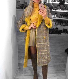 Пальто кэжуал осень-зима 2018-2019: топовые новинки и актуальные модели — Мир интересного Stylish Winter Outfits, Fall Outfits, Hijab Fashion, Fashion Outfits, Womens Fashion, Outfit Invierno, Girl Sleeves, 2020 Fashion Trends, Distressed Denim