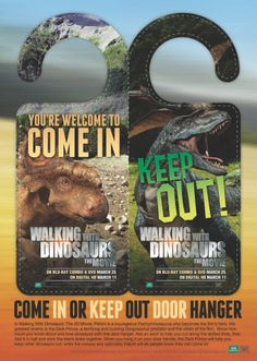 Walking with Dinosaurs Free Printable Door Hanger Craft