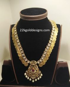 Indian Jewellery Designs - Page 4 of 1779 - Latest Indian Jewellery Designs 2020 ~ 22 Carat Gold Jewellery one gram gold Indian Jewellery Design, South Indian Jewellery, Indian Jewelry, Jewelry Design, Wedding Jewelry, Gold Jewelry, Jewelry Necklaces, Gold Coin Necklace, 22 Carat Gold