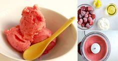 Saludable helado de fresa para hacer en menos de 5 minutos