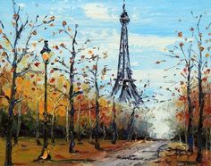 Paris Eiffel Tower art Leonid Afremov