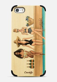 Casetify iPhone 5s Wood Case - The Weekenders (Fashion Illustration Transparent…
