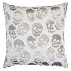 skull pillow z gallerie