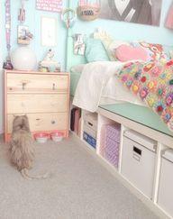 IKEA EXPEDIT FOR KIDS criar um espaço de armazenamento debaixo da cama
