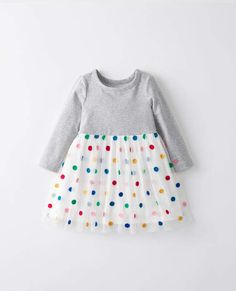 ba8393bb943 Dot Dress With Supersoft Tulle Baby Kids Wear