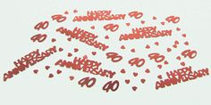 Ruby / 40th Wedding Anniversary Table Confetti 40th Wedding Anniversary, Anniversary Parties, Table Confetti, Mom And Dad, Dads, Party, Birthday Celebrations, Fathers, Parties