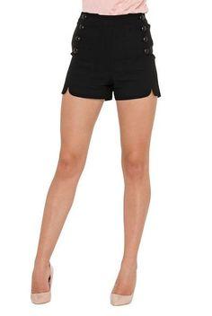 Black Scalloped Sailor Shorts – Cats Like Us