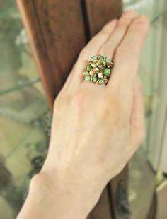 天然石ビーズリング(指輪)