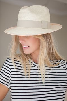 Clasico Panama Hat with Ivory band and Salmon Trim Handmade in Ecuador $180 #PanamaHats www.artesano.net