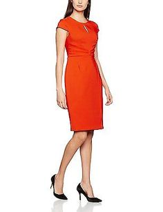 16, Orange (Orange), Dorothy Perkins Women's Keyhole Dress NEW