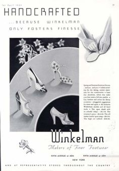 Winkelman Spring/Summer Shoes, 1934.