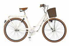 Pilen sykler helfarget krem