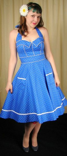 Hell Bunny Vanda Polka Dot Swing Dress