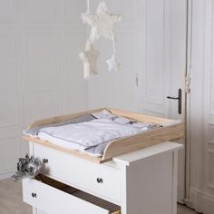 Changing unit, table top, Cot Top for IKEA Hemnes dresser Ikea Changing Table, Baby Changing Unit, Changing Table Topper, Baby Room Design, Baby Room Decor, Baby Bedroom, Ikea Malm, Ikea Kallax, Ikea Bedroom Furniture