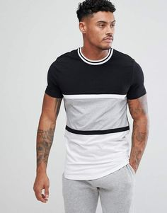 Buy ASOS muscle fit T-Shirt With Colour Block And Los Angeles Print at ASOS. With free delivery and return options (Ts&Cs apply), online shopping has never been so easy. Get the latest trends with ASOS now. T Shirt Vest, Sweater Shirt, Men Sweater, Mens Holiday Clothes, African Print Shirt, Asos Men, Muscle T Shirts, Shirt Print Design, Camisa Polo