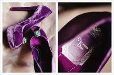 CD violet velvet heels