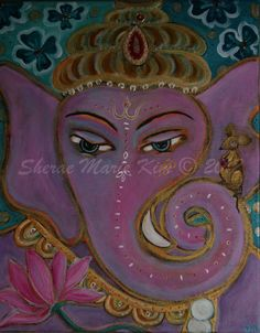 Original Painting  Ganesha by InspiredFriends on Etsy, $222.00