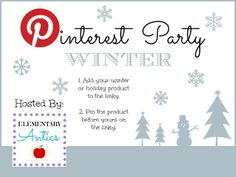 Elementary Antics: Winter & Holiday Products Pinterest Party!