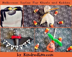 Halloween Tootsie Roll Pop Ghosts and Goblins Halloween Ghosts And Goblins Treats Made With Tootsie Roll Pops halloween halloween fun gift i...