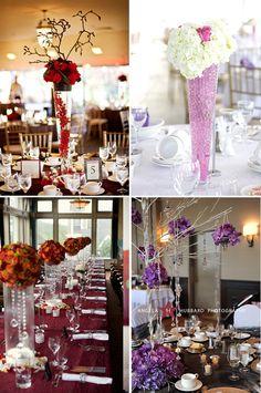 Tall Wedding Centerpieces   Wedding Obsession – Canadian Wedding Inspiration Blog – Toronto ...