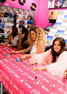 Fifth Harmony at HMV in London on May 27th.