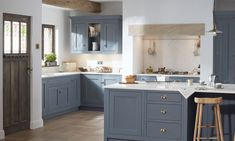 1909 is a classic painted in-frame kitchen with a timeless quintessentially British feel. Visit our showroom to view beautiful kitchens on display. Real Kitchen, Family Kitchen, Old Kitchen, Kitchen Paint, Country Kitchen, Kitchen Design, Kitchen Cabinets, Shaker Kitchen Company, Layout Design