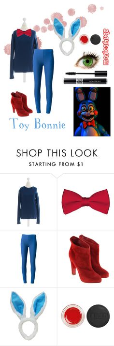 """""""Five Nights At Freddy's - Toy Bonnie"""" by magicalhuqz ❤ liked on Polyvore featuring Freddy, Closed, Joseph, Christian Louboutin and Topshop"""